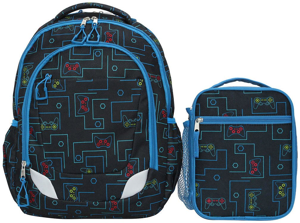 Crckt Youth 2 Piece Backpack Set with Matching Lunch Kit (4 Colors)