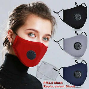 Cotton Reusable FaceMask Activated Filter Respirator Mouth-muffle Anti-fog PM2.5