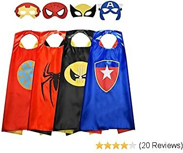 Easony Gifts for 3-10 Year Old Girls, Superheros Toys for Girls Superhero Cape Girl Kids Dress Up for Girls Birthday Gifts for Girls Cartoon Cape Masks Toddler Superhero Capes
