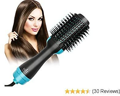 Hair Dryer Brush, One-Step Hair Dryer And Volumizer Hot Air Brush, 5-in-1 Styler for Straightening, Curling, Comb, Constant Temperature & Ion Technology Ceramic Electric Blow Dryer with Smooth Frizz