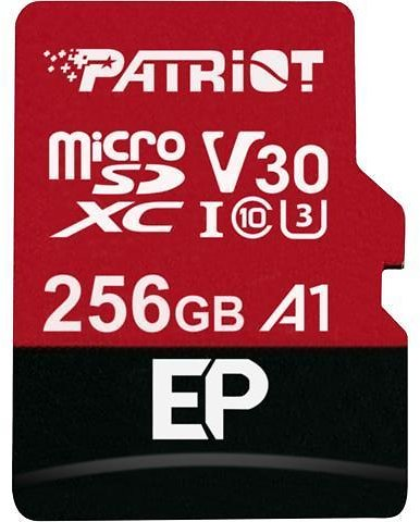 Patriot Memory 256GB EP Series MicroSDXC U3, A1, V30. 4K Memory Card with Adapter, Reads 90MB/s, Writes 80MB/s - Newegg.com