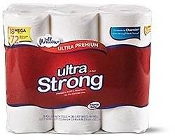 Last Day ! Willow 18 Mega Roll Ultra Strong Bath Tissue (In Store)