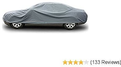 Copap Car Covers PVC and Non-Woven Fabric Sedan Cover Dust Prevention UV Proof Indoor Outdoor All Weather Waterproof (M Size Up to 160