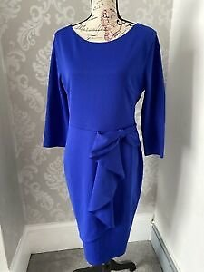 New Womens Beach Heart Bodycon Dress Size 16 Blue Party Special Occasion