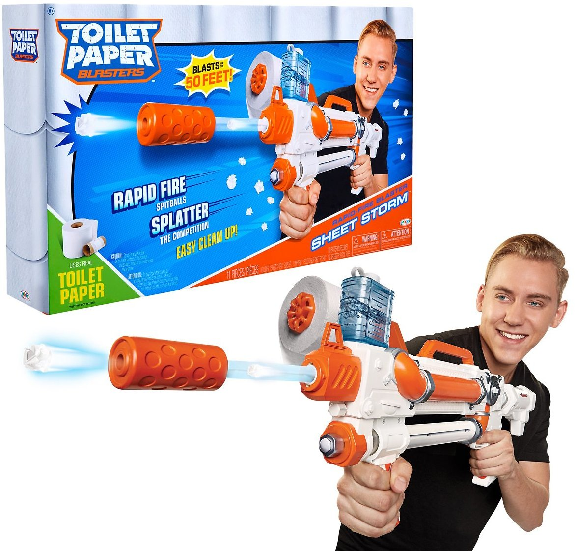 TP BLASTER Toilet Paper Blasters Sheet Storm, Toy Blaster