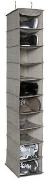 Arrow Weave 10-Shelf Deluxe Clothing and Shoe Organizer in Grey