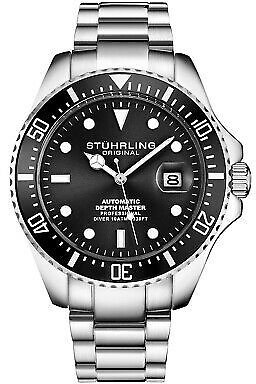 Stuhrling Men's Automatic Self Wind Unidirectional Rotating Bezel Divers Watch