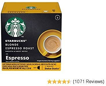 Starbucks Coffee By Nescafe Dolce Gusto, Starbucks Blonde Espresso Roast, Coffee Pods, 12 Capsules, Pack of 3