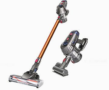 Cordless Handheld Vacuum Cleaner Upright Bagless Detachable LED Light Compact