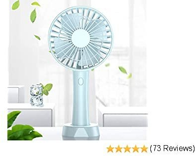 Mini Handheld Portable Fan, Silent USB Fan with Battery Rechargeable 2500mAh, Electric USB Cooling Mini Fan Outdoor Cooling Hand Desk Fan for Home, Office, Subway and Travel, Sport