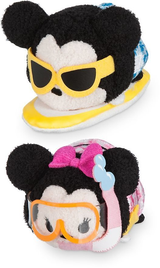 Mickey and Minnie Mouse ''Tsum Tsum'' Plush Hawaii Set - Mini 3 1/2'' | ShopDisney