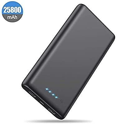 Portable Charger Power Bank 25800mah Classic Portable Phone Charger High-Capacity Battery Pack Dual Output with 4 LED Indicators