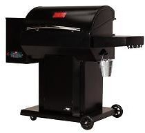 USSC The Cumberland Wood Pellet Grill and Smoker in Black with Searing Grate-USG730