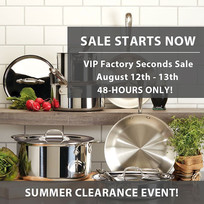 Up To 70% Off All-Clad VIP Clearance. Everything Must Go