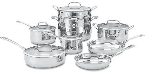 Cuisinart 13 Piece Contour Stainless Steel Cookware Set