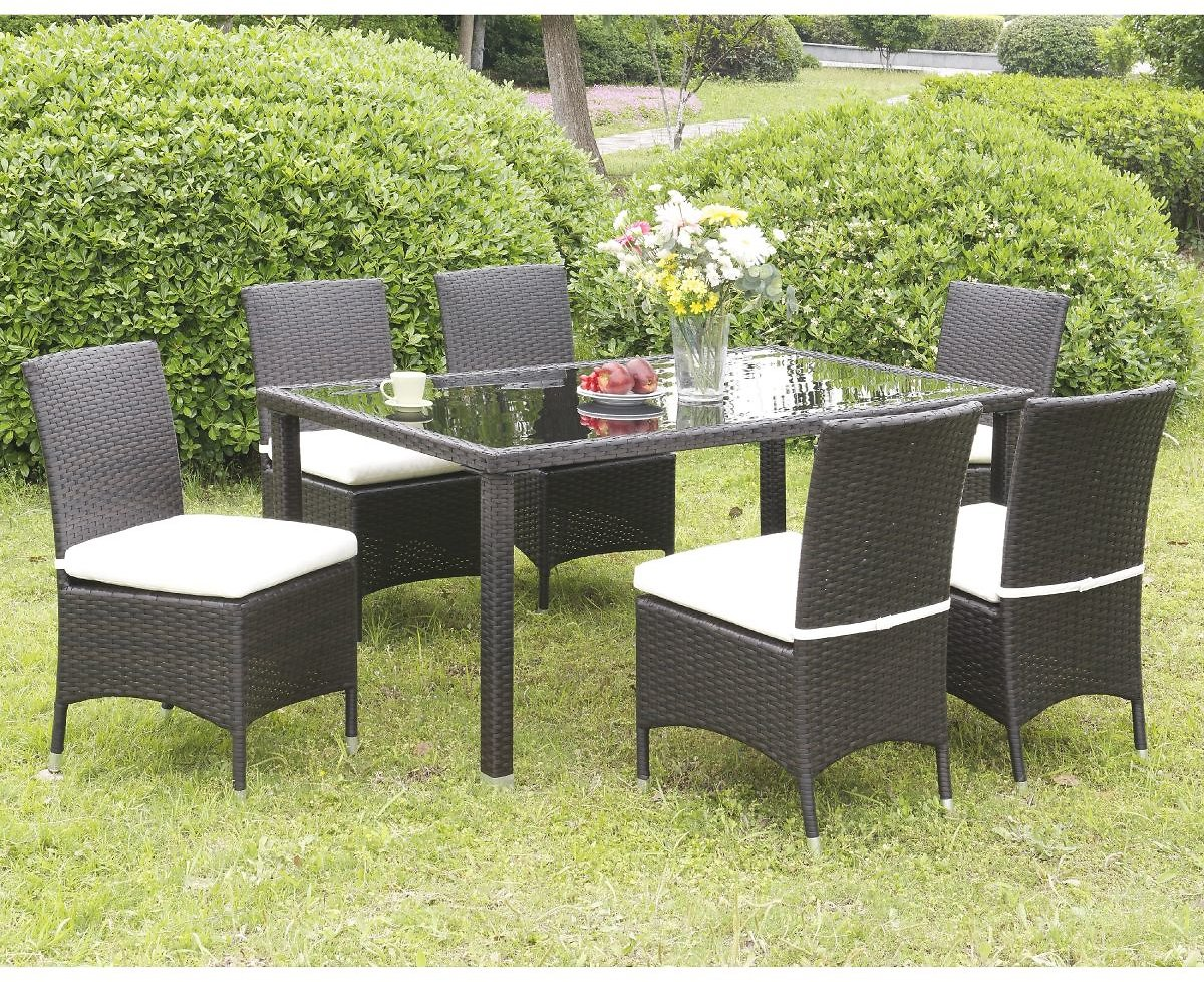 Furniture of America Sel Contemporary Wicker Patio Chairs Set of 2
