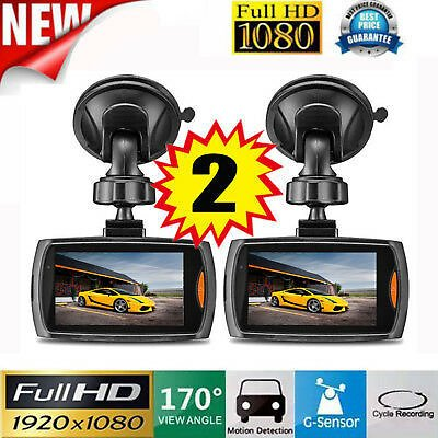 2x Car 2.2 Full 1080P HD DVR Vehicle Camera Dash Cam Video G-sensor Night Vision 652731120122