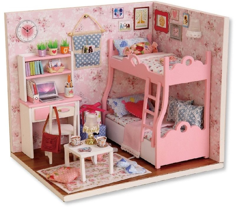US $9.99 60% OFF|CUTEBEE Doll House DIY Miniature Dollhouse Model Wooden Toy Furnitures Casa De Boneca Dolls Houses Toys Birthday Gift H012|Doll Houses| - AliExpress