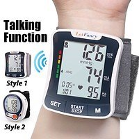 Wrist Blood Pressure Monitor Digital BP Cuff Machine for Home Use- with Talking Function | Wish