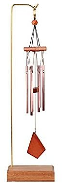 Wind Chime with Wood Desk Stand
