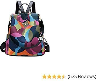 Women's Travel Backpack Purse, Lightweight Waterproof Oxford Shoulder Bag Small Outdoor Casual Anti-theft Backpack