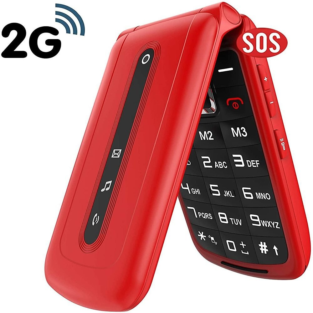 Global Version Mobile Phone for Seniors SOS Big Button Unlock Dual SIM Standby Quick Dial Key Easy-to-use Phone for Elderly