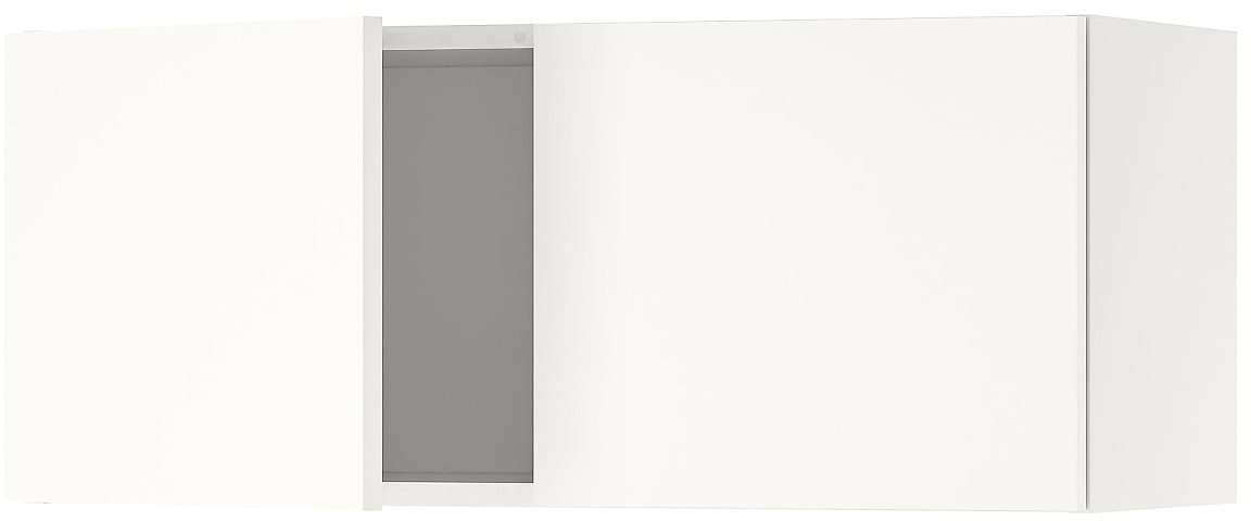 KNOXHULT Wall Cabinet with Doors, White30x12x12 1/2