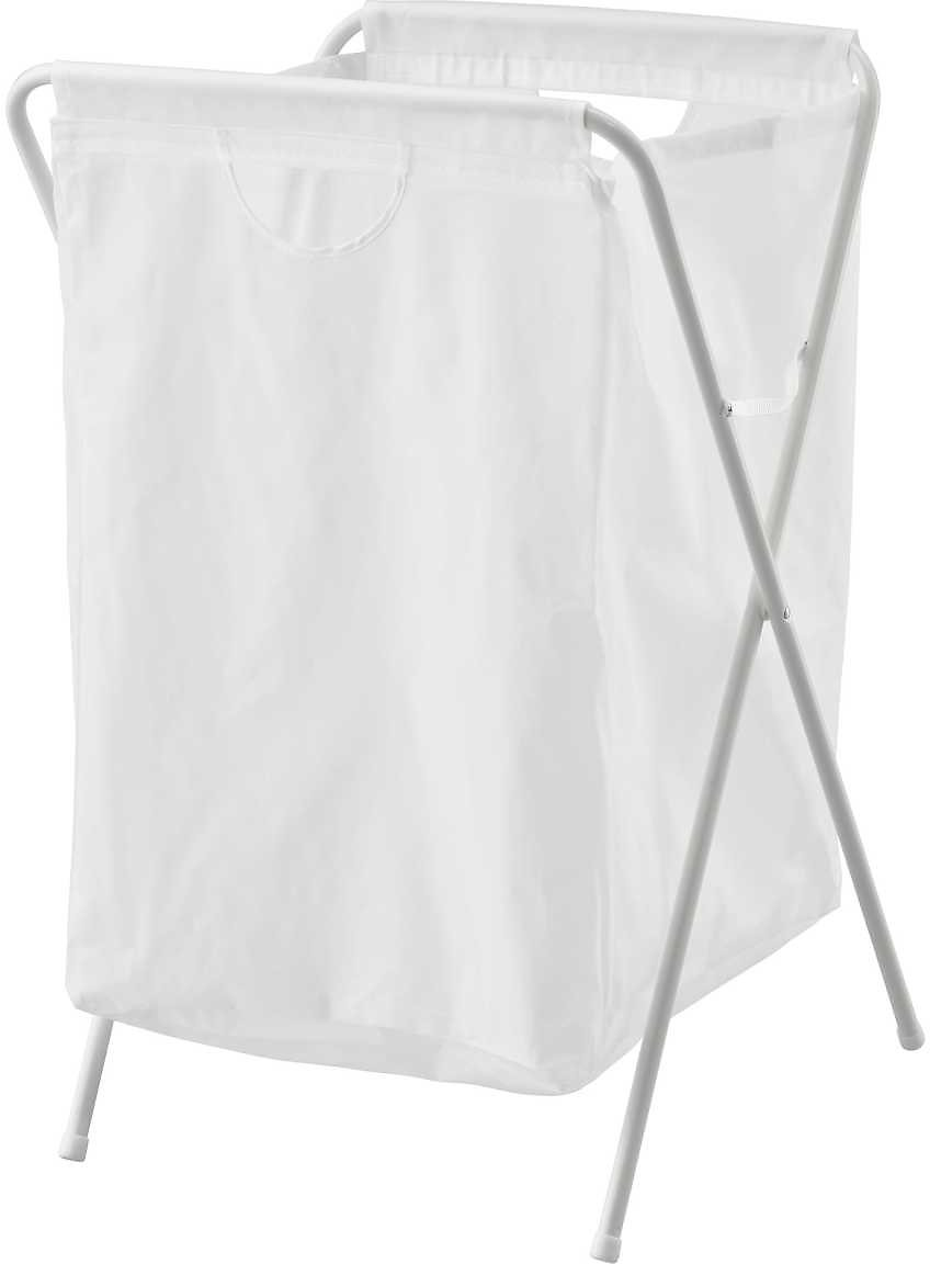 JÄLL Laundry Bag with Stand, White18 Gallon