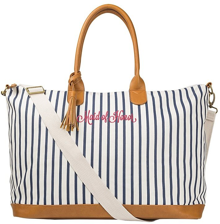Cathy's Concepts | Maid of Honor Striped Weekend Tote | Nordstrom Rack