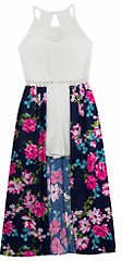 Rare Editions Girls 7-16 Floral Lace Walk Through Dress