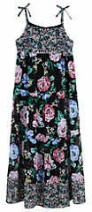 Amy Byer Girls 7-16 Black Floral Tiered Maxi Dress