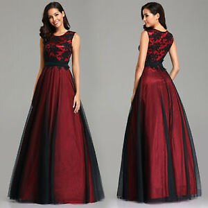 Ever-Pretty Elegant A Line Sleeveless Long Cocktail Evening Ball Prom Dress Gown