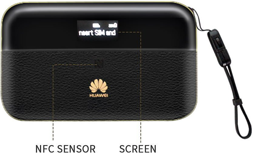 Huawei Mobile WiFi Pro 2 4G LTE Portable Router/Power Bank (E5885Ls-93A) - Black