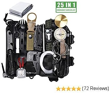 Christmas Gift for the guys, 40% OFF 25 in 1 Survival Gear Kit, #1 New Release