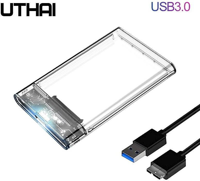 US $3.99 20% OFF|UTHAI G06 USB3.0/2.0 HDD Enclosure 2.5inch Serial Port SATA SSD Hard Drive Case Support 6TB Transparent Mobile External HDD Case|HDD Enclosure| - AliExpress