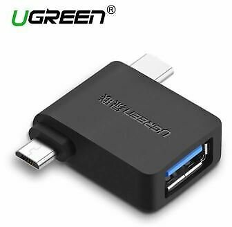 Ugreen 2 in 1 Usb Otg Type C Micro 3.0 Data Adapter Compact Stick Android Host B