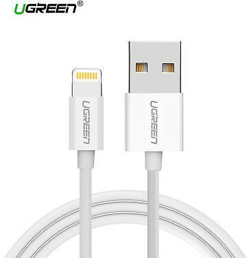 Lightning Usb  for IPhone Ugreen Mfi Certified Apple 2.4a White 1m 2m