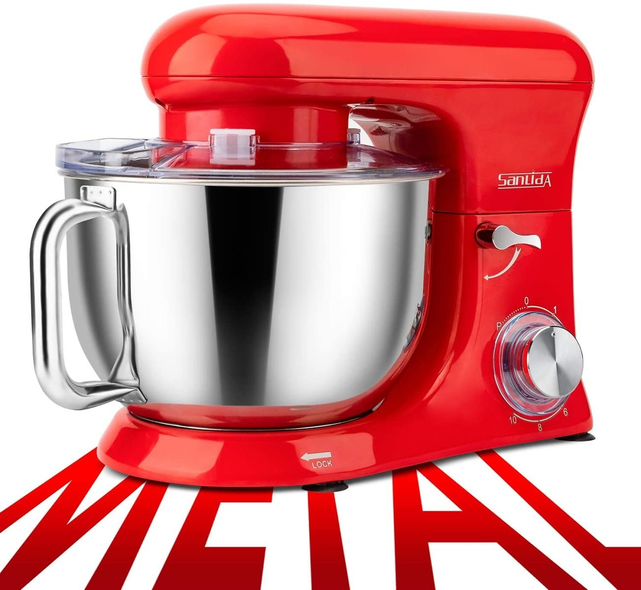 SanLidA 6.5 Qt All-Metal Stand Mixer with Dishwasher-Safe Dough Hooks for Most Home Cooks