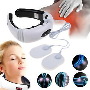 Electric Cervical Pulse Neck Massager Body Shoulder Muscle Relax Pain Relief Y8