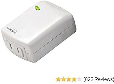 Leviton DZPD3-2BW Decora Smart Plug-in Dimmer with Z-Wave Technology, White, Repeater/Range Extender