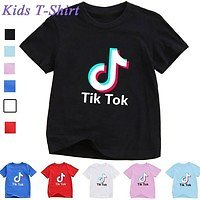 6 Colors New Kids Fashion Tik Tok T Shirt Short Sleeve Casual Funny Children Shirts Tops | Wish