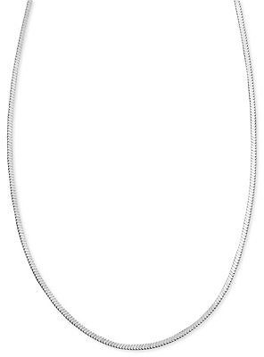 Giani Bernini Sterling Silver Necklace, Square Chain & Reviews - Necklaces - Jewelry & Watches