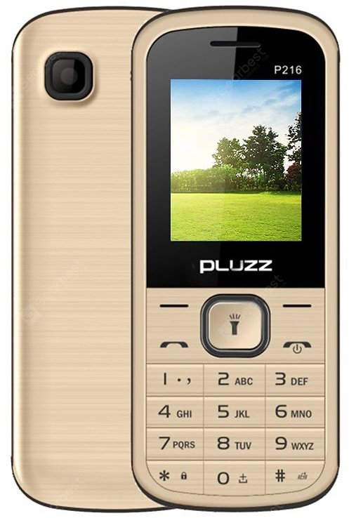 PLUZZ P216 Gold Featured Phones Sale, Price & Reviews | Gearbest