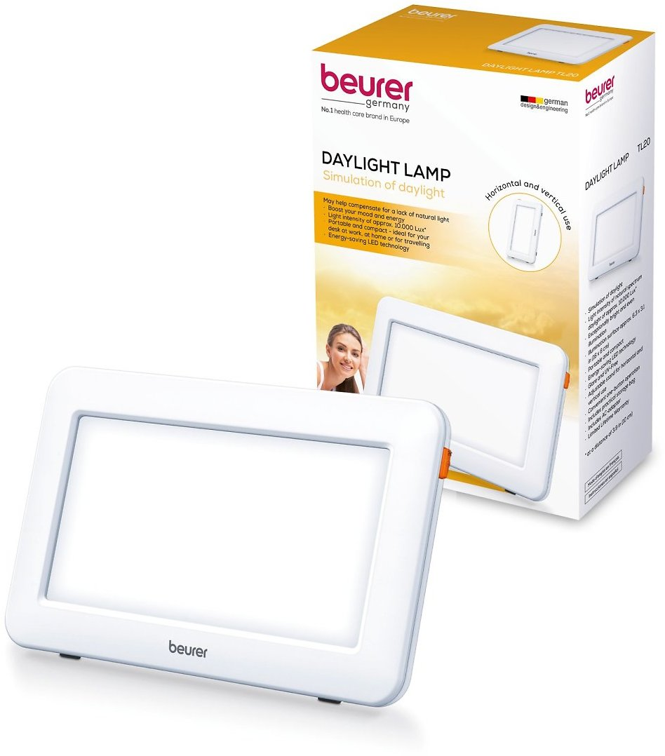 Beurer Daylight Sun Lamp, Portable Compact Bright Light, 10, 000 Lux Bright White Sunlight Simulation Natural