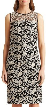 Ralph Lauren Metallic Floral Embroidered Cocktail Dress Women - Bloomingdale's
