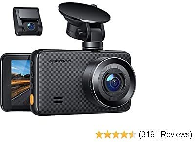 1440P&1080P Dual Dash Cam, 1520P Max, Support 128GB, Front and Rear Camera for Cars with 3 Inch IPS S Parking Monitor