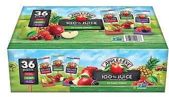Apple & Eve 100% Juice, Variety Pack, 6.75 Fl Oz, 36-count