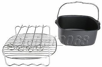 Air Fryer Accessory Double Layer Rack Skewers Non-Stick Baking Dish