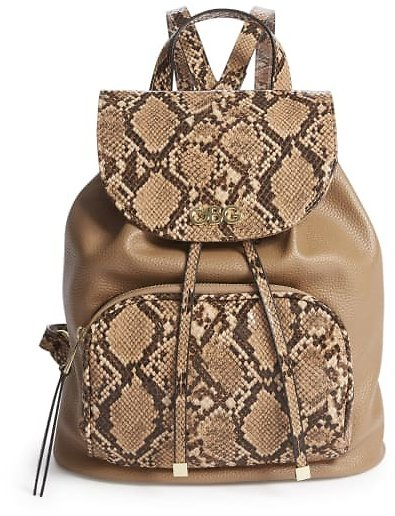 Trixie Snakeskin Bucket Backpack