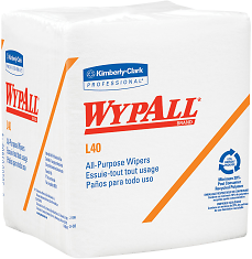 Kimberly Clark Professional Wipers Wypall L40 14 Fold Pack Of 56 - Office Depot
